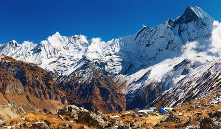 Mount Machhapuchhre and Annapurna base camp, Nepal