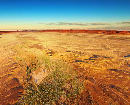 Namib Desert, aerial view, Namibia  photo