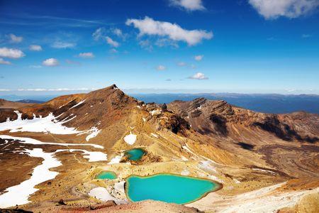 tongariro: Emerald Lakes, Tongariro National Park, New Zealand  Stock Photo