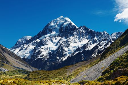Mount Cook, highest peak of New Zealand Stock Photo - 5873903