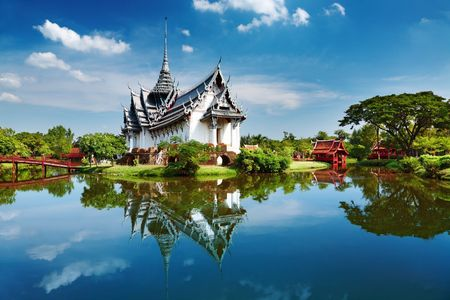 Sanphet 프라 삿 궁전, 고대 도시, 방콕, 태국 스톡 콘텐츠