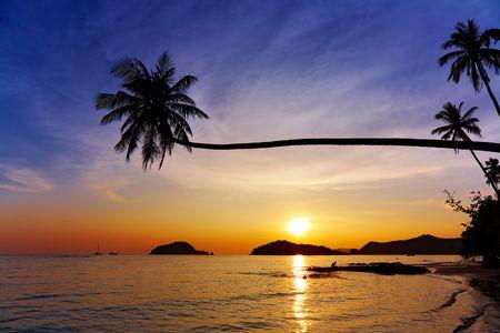 Tropical beach, Mak island, Thailand photo