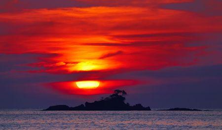 chang: Colorful sunset, Chang island, Thailand