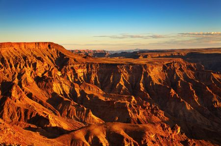 Fish River canyon- the second largest canyon in the world, South Namibia   Фото со стока