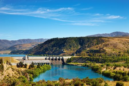 Aviemore hydroelectric dam, New Zealand  photo
