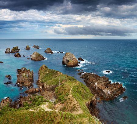 Nugget Point, Catlins Coast, New Zealand Stock Photo - 6670747
