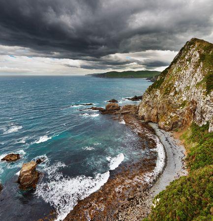 Coastal view, Catlins Coast, New Zealand Stock Photo - 6741119