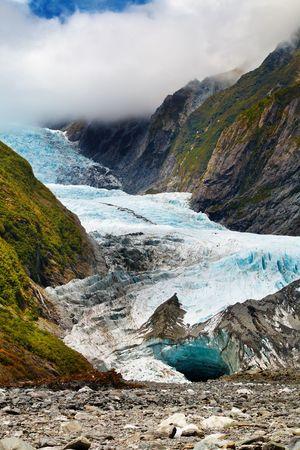 franz josef: Franz Josef glacier, Alpes del Sur, Nueva Zelanda