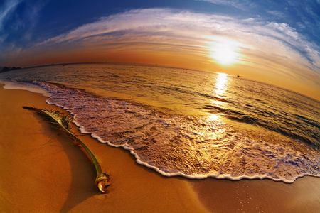 chang: Tropical beach at sunset, Chang island, Thailand