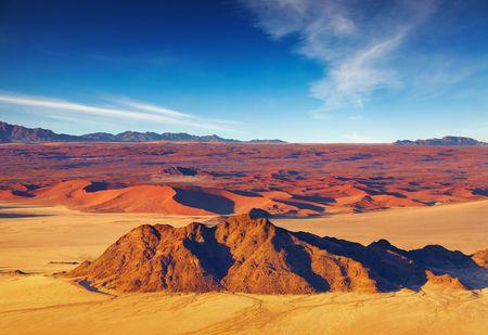 parch: Namib Desert, dunes of Sossusvlei, aerial view