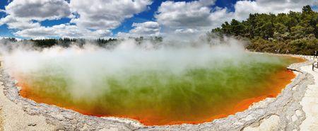Champagne Pool, hot thermal spring, Rotorua, New Zealand  photo