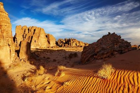 D�sert du Sahara, le Tassili n'Ajjer, Alg�rie Banque d'images - 8677715