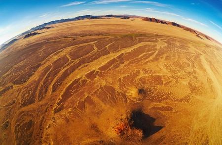 Namib Desert, aerial view, fisheye shot Stock Photo - 8677719