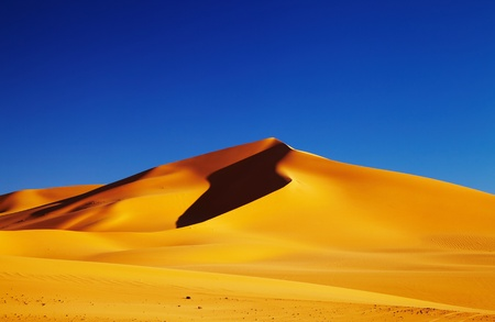 Sand dune in Sahara Desert at sunset, Tadrart, Algeria Stock Photo - 8768096