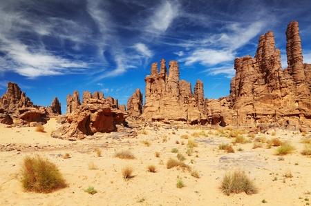 Rocks of Sahara Desert, Tassili N Фото со стока