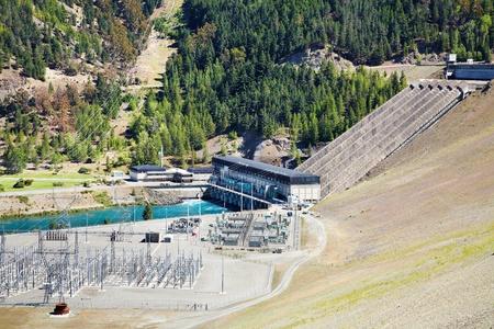Lake Benmore hydroelectric dam, South Island New Zealand photo