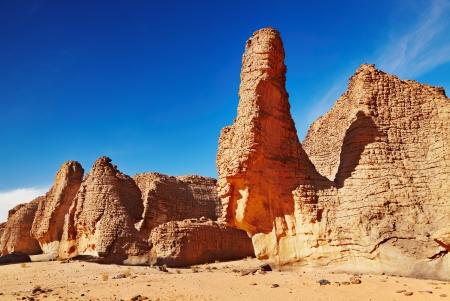Rocks of Sahara Desert, Tassili NAjjer, Algeria  photo