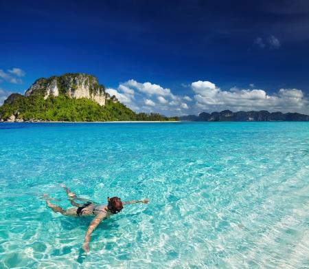 Spiaggia tropicale, Mare delle Andamane, Thailandia Archivio Fotografico