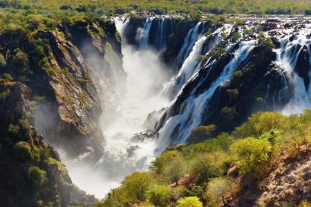 angola: Ruacana Falls, border of Angola and Namibia
