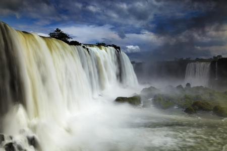 Iguassu Falls, the largest series of waterfalls of the world, located at the Brazilian and Argentinian border, View from Brazilian side photo