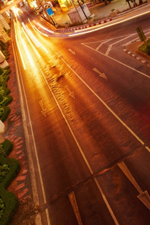 Night traffic in the city, car lights in motion blur Stock Photo - 13727701