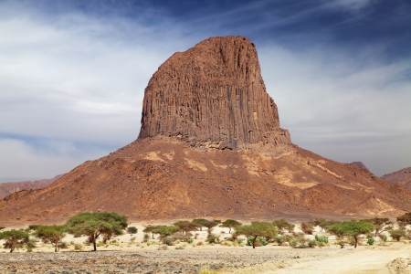 Rock in Sahara Desert, Hoggar mountains, Algeria  photo