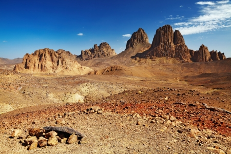 Rocks in Sahara Desert, Hogar mountains, Algeria