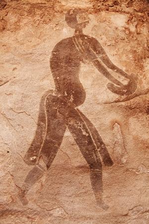 Famous prehistoric rock paintings of Tassili NAjjer, Algeria  photo