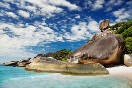 Tropical beach, Similan islands, Andaman Sea, Thailand   photo