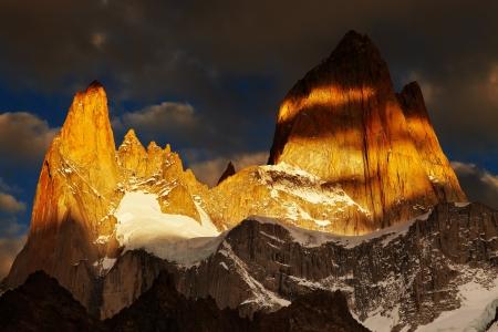 fitz: Mount Fitz Roy, Dramatical sunrise, Patagonia, Argentina