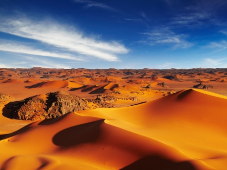 タドラルト、アルジェリアのサハラ砂漠の砂丘 写真素材