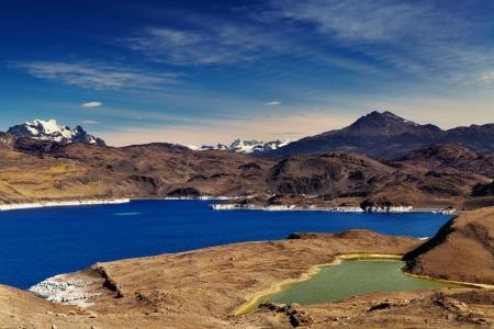sarmiento: Sarmiento lake, Torres del Paine National Park, Patagonia, Chile Stock Photo