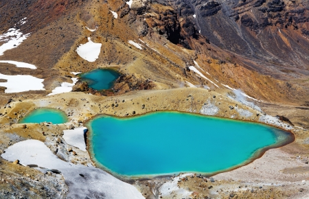 crater highlands: Emerald Lakes, Tongariro National Park, New Zealand