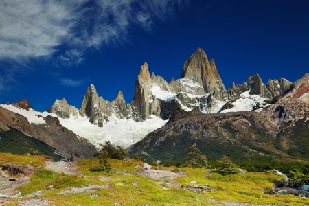 fitzroy: Mount Fitz Roy, Los Glaciares National Park, Patagonia, Argentina Stock Photo