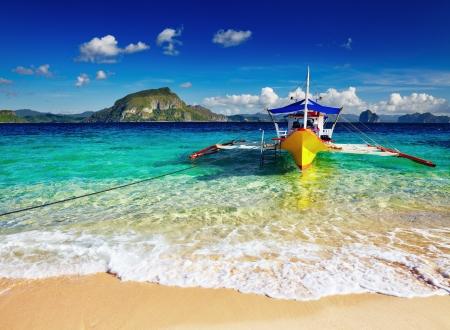 熱帯のビーチ、南中国を参照してください、El Nido、フィリピン