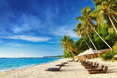 philippines: Tropical beach, Boracay island, Philippines