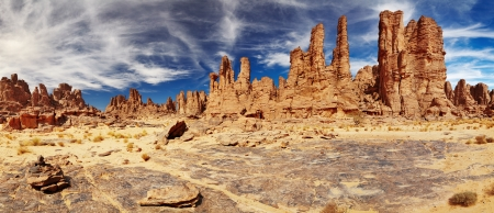 parch: Rocks of Sahara Desert, Tassili N Stock Photo