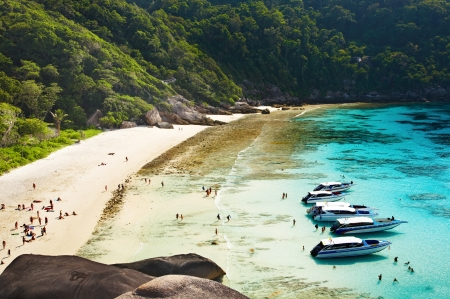 Tropical beach, Similan Islands, Andaman Sea,Thailand  photo
