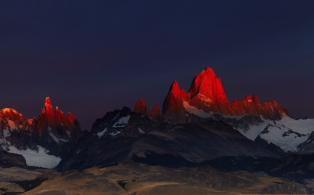 Mount Fitz Roy at sunrise. Los Glaciares National Park, Patagonia, Argentina photo