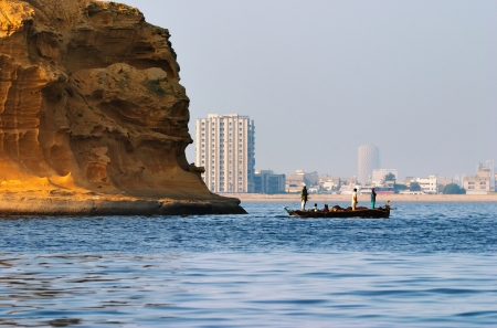 karachi: City of Karachi, Pakistan, port area
