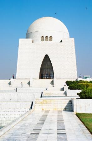 jinnah: Mazar-e-Quaid- mausoleum of the founder of Pakistan, Muhammad Ali Jinnah. Iconic symbol of Karachi throughout the world  Stock Photo