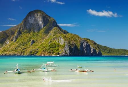 El Nido bay and Cadlao island, Palawan, Philippines Standard-Bild
