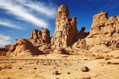 waterless: Rocks of Sahara Desert, Tassili NAjjer, Algeria  Stock Photo