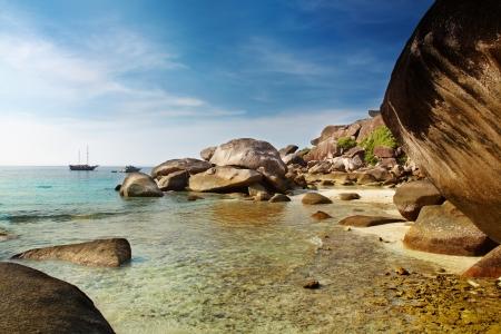 similan islands: Tropical beach, Similan islands, Andaman Sea, Thailand   Stock Photo