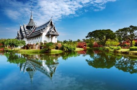 Sanphet Prasat Palace, Ciudad Antigua, Bangkok, Tailandia Foto de archivo - 22127965