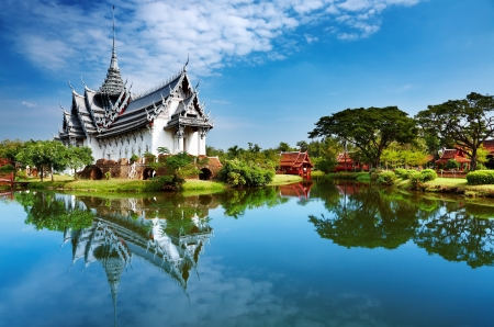 Sanphet Prasat Palace, Ancient City, Bangkok, Thailand Archivio Fotografico