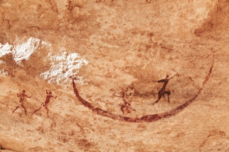 cave painting: Famosos pinturas rupestres de Tassili N Ajjer, Argelia