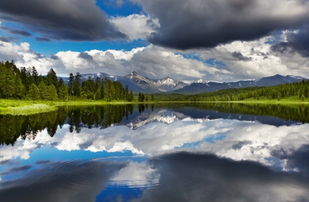 Beautiful lake in Altai mountains  photo