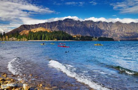 Wakatipu Lake and Ramarkables Mountains, New Zealand