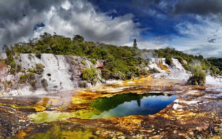 Orakei Korako geotermal area, New Zealand photo